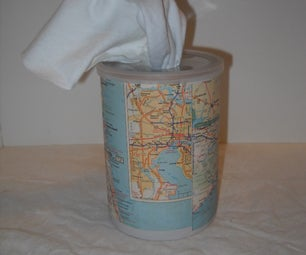 Recycled Napkins With Canister