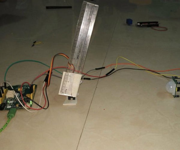 Entry Controlled Parking System Using Servo Motor and PIR With LinkIt One Board