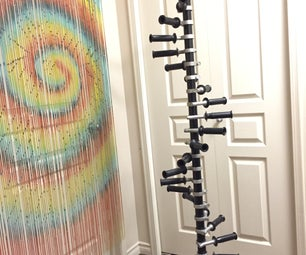 Recycled Drill Handle Coat Rack