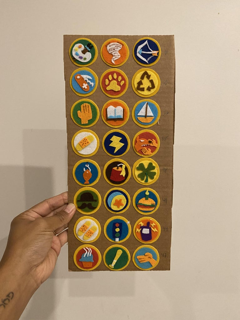 Wilderness Explorer Sash and Badges
