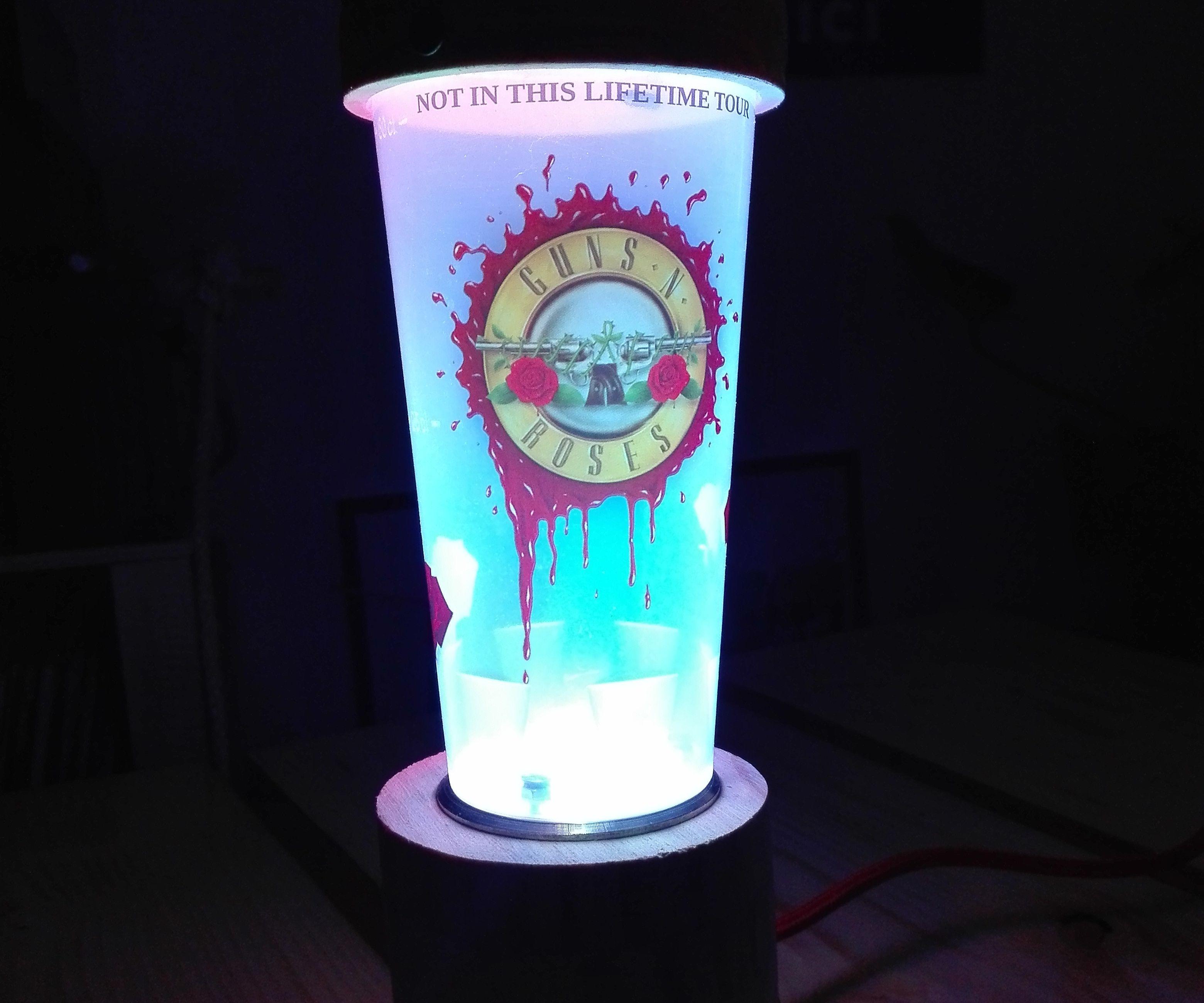 Guns N' Roses Ecocup Lamp