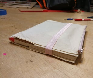 Notebook Cover With Zip Pouch