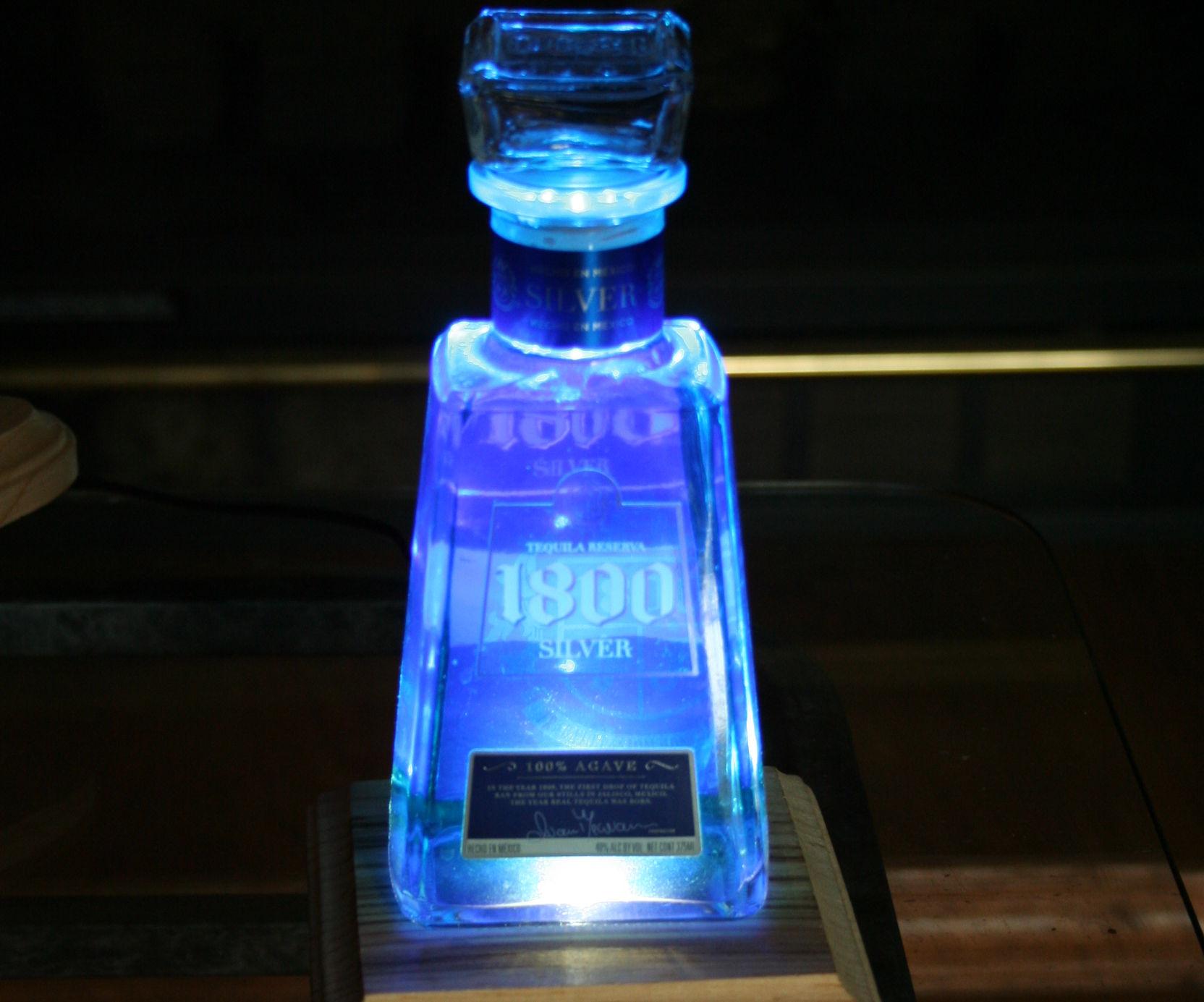 Lighted Liquor Bottle Display Base