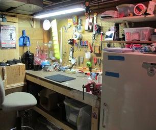 My Basement Pegboard Workspace
