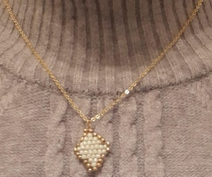 Pearl Weaving on Necklace