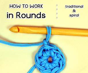 How to Crochet in the Round (traditional & Spiral)