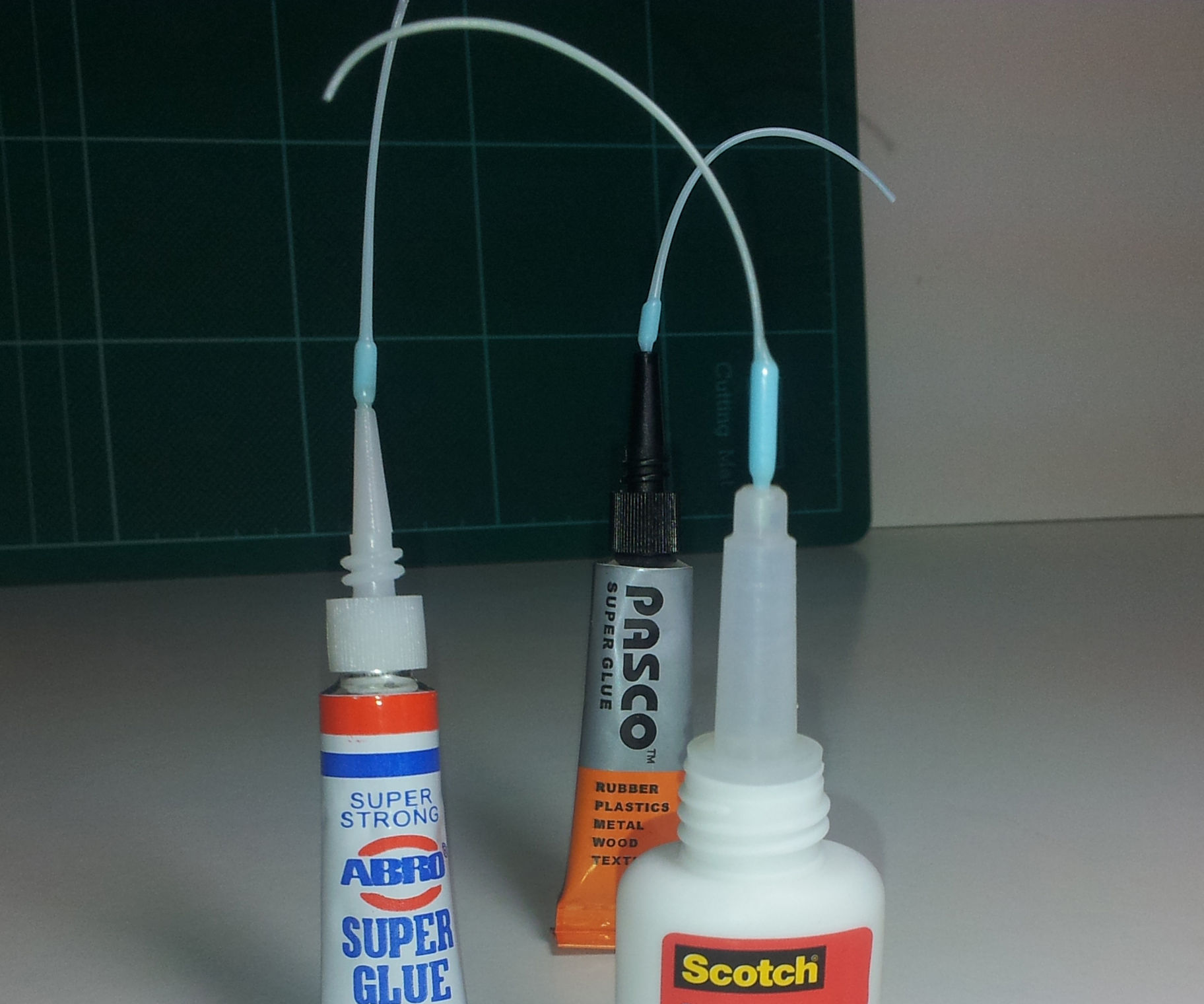 Make nozzles for precise glue applications