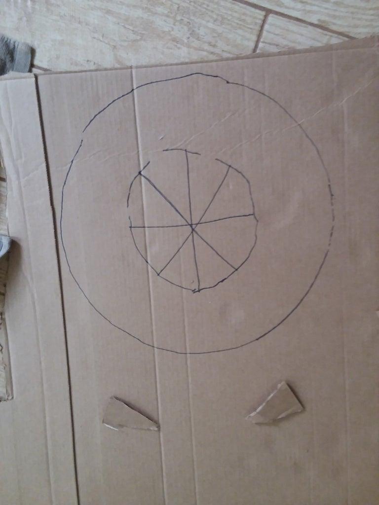 Cut Out Cardboard Doughnuts