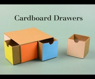 Cool DIY Project - Cardboard Drawers