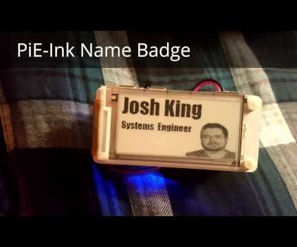 PiE-Ink Name Badge