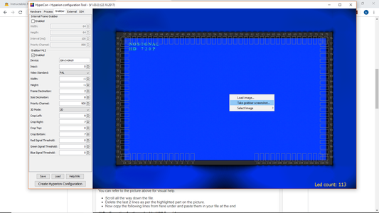 Uploading the Hyperion Config to the Raspberry Pi and Setting the Grabber