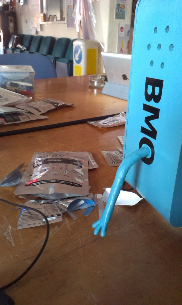 Sugru Blended for the Skin of BMO's Arms