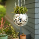 Disco Ball Hanging Planter