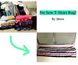 T-Shirt Rug (No Sew!)