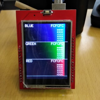Arduino 2.4inch Tft Display Testing
