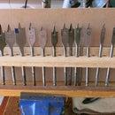 Flat wood drill bits Organizer