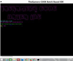 CODE's Batch Based IDE