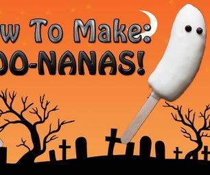 Spooky BOO-nanas! (Super Easy, No Cook)