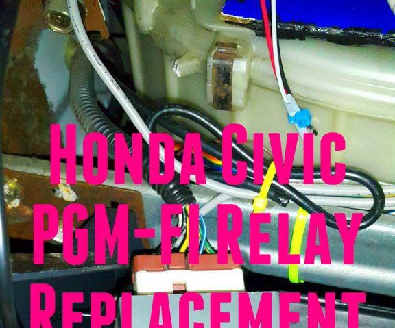 Replacing a Pgmfi Relay (Honda Civic 1999).