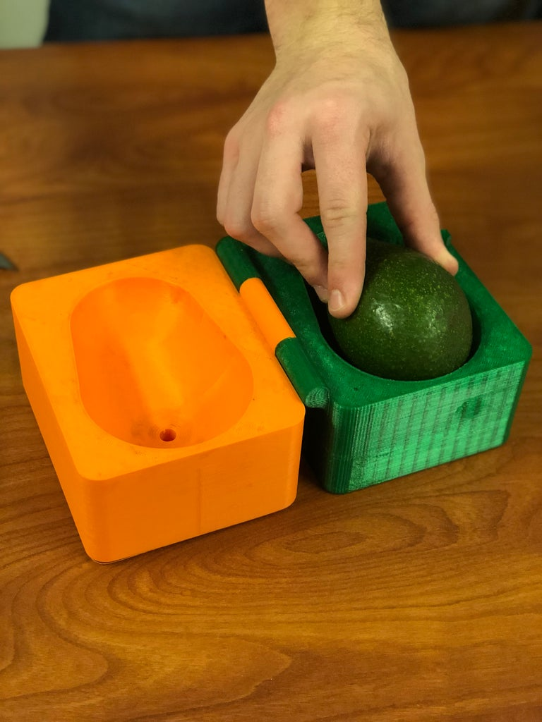 Insert Avocado Into Device