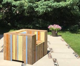 Reclaimed Wood Patio Armchair