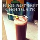 Homemade Iced Not Hot Chocolate