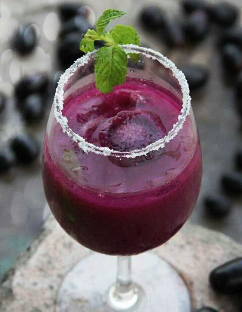 Black Plum or Indian Jamun Mocktail Recipie