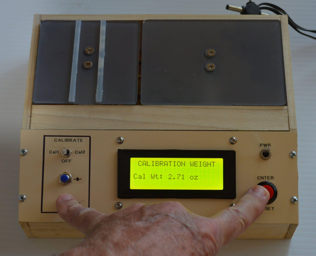 Operation - Setting the Calibration Weight Value