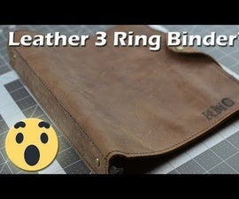 Leather 3 Ring Binder
