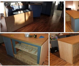 Up-cycled Kitchen Island