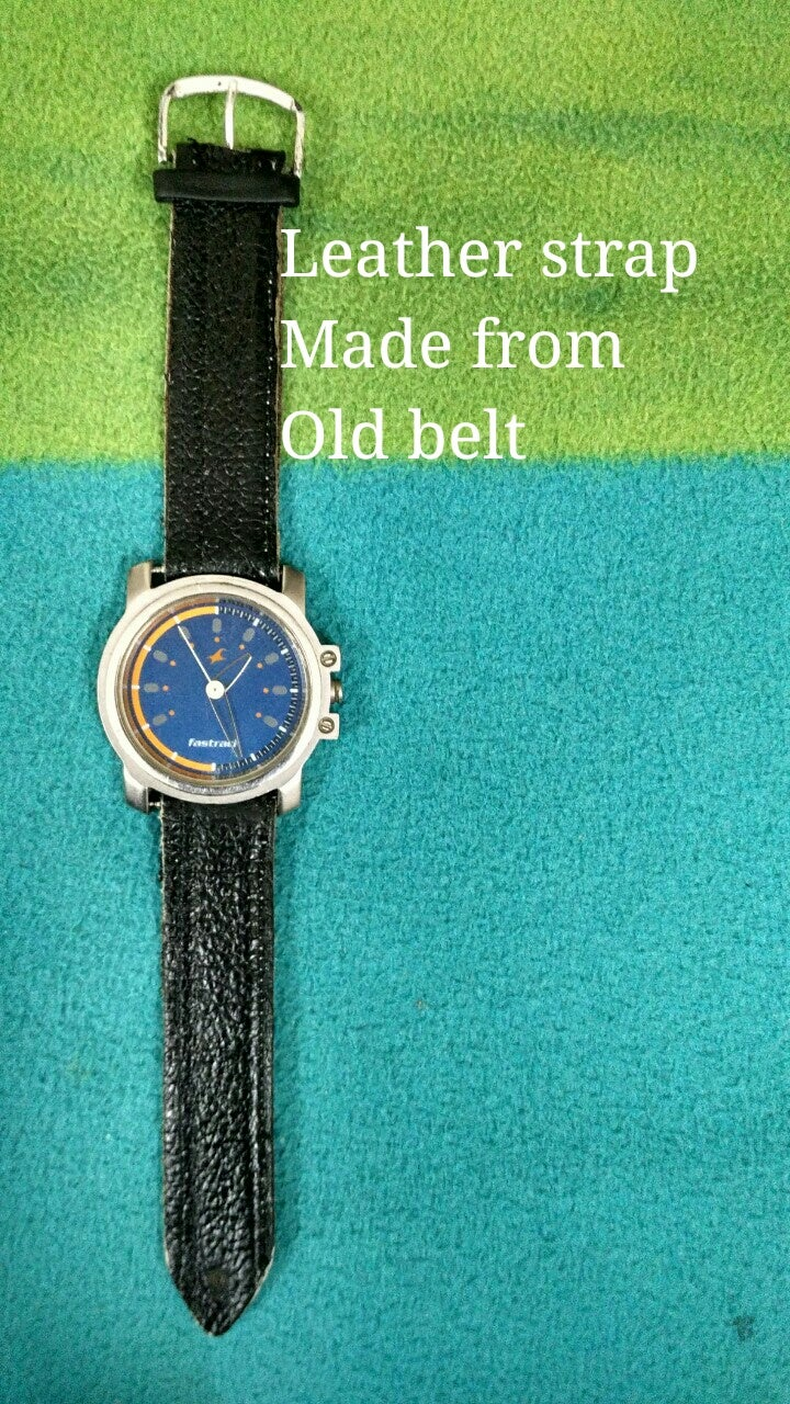 Upcycled Leather Watch Strap (super Easy)