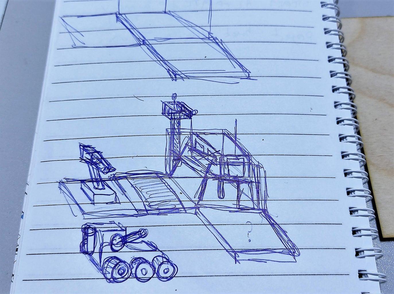 草图和第一个原型