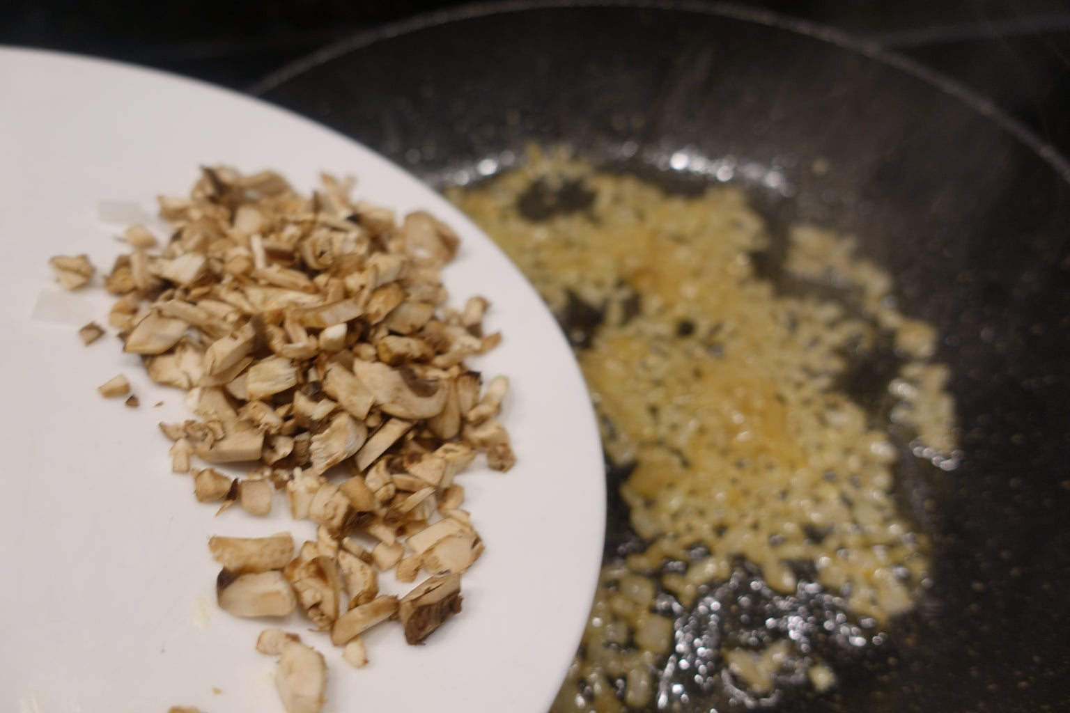 Sautee the Onions and Mushrooms