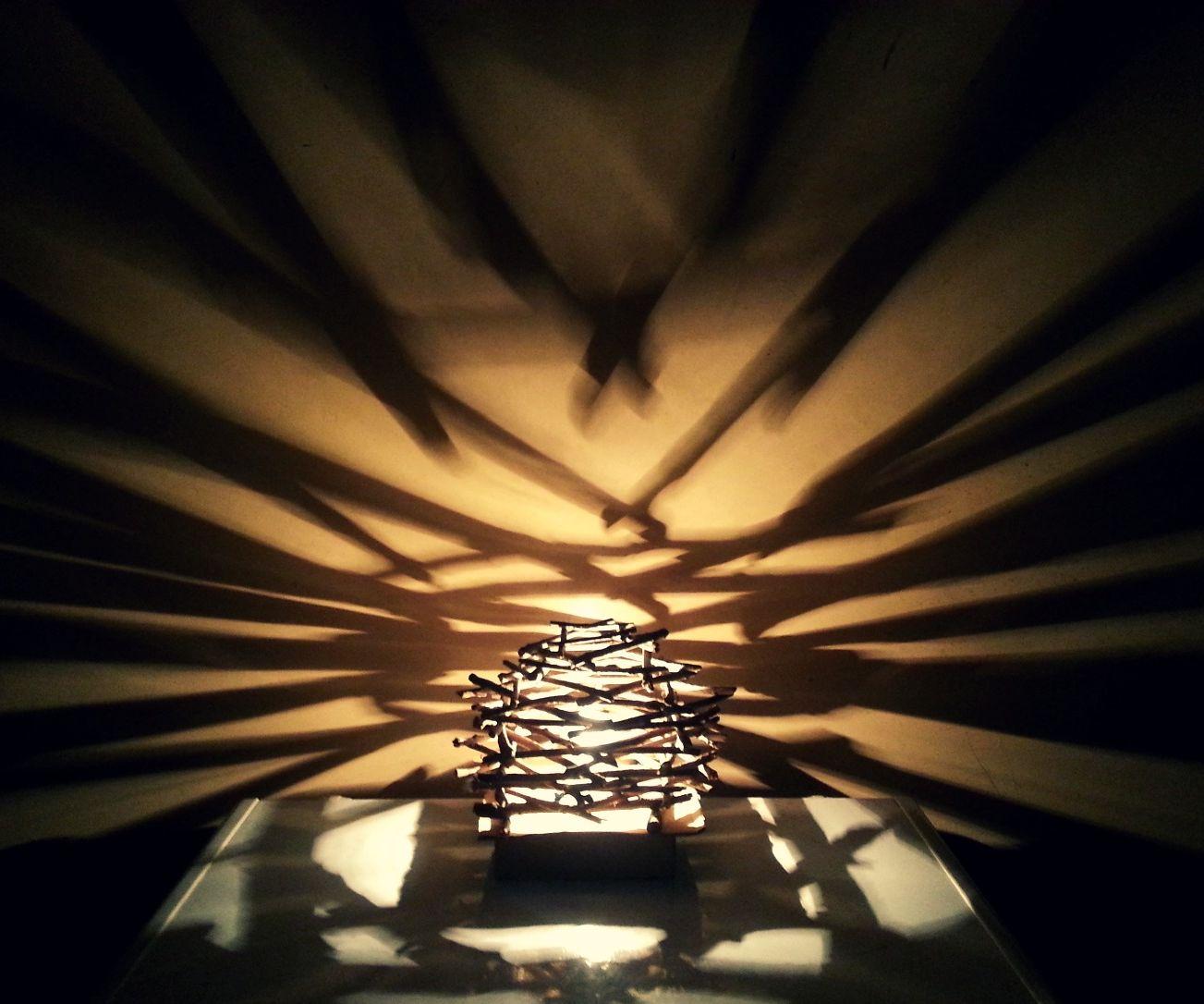 DIY Rustic Twig Lampshade