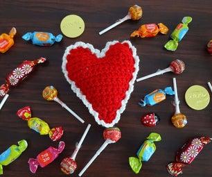 Crochet Heart Pin Cushion or Decoration Pattern & Turorial