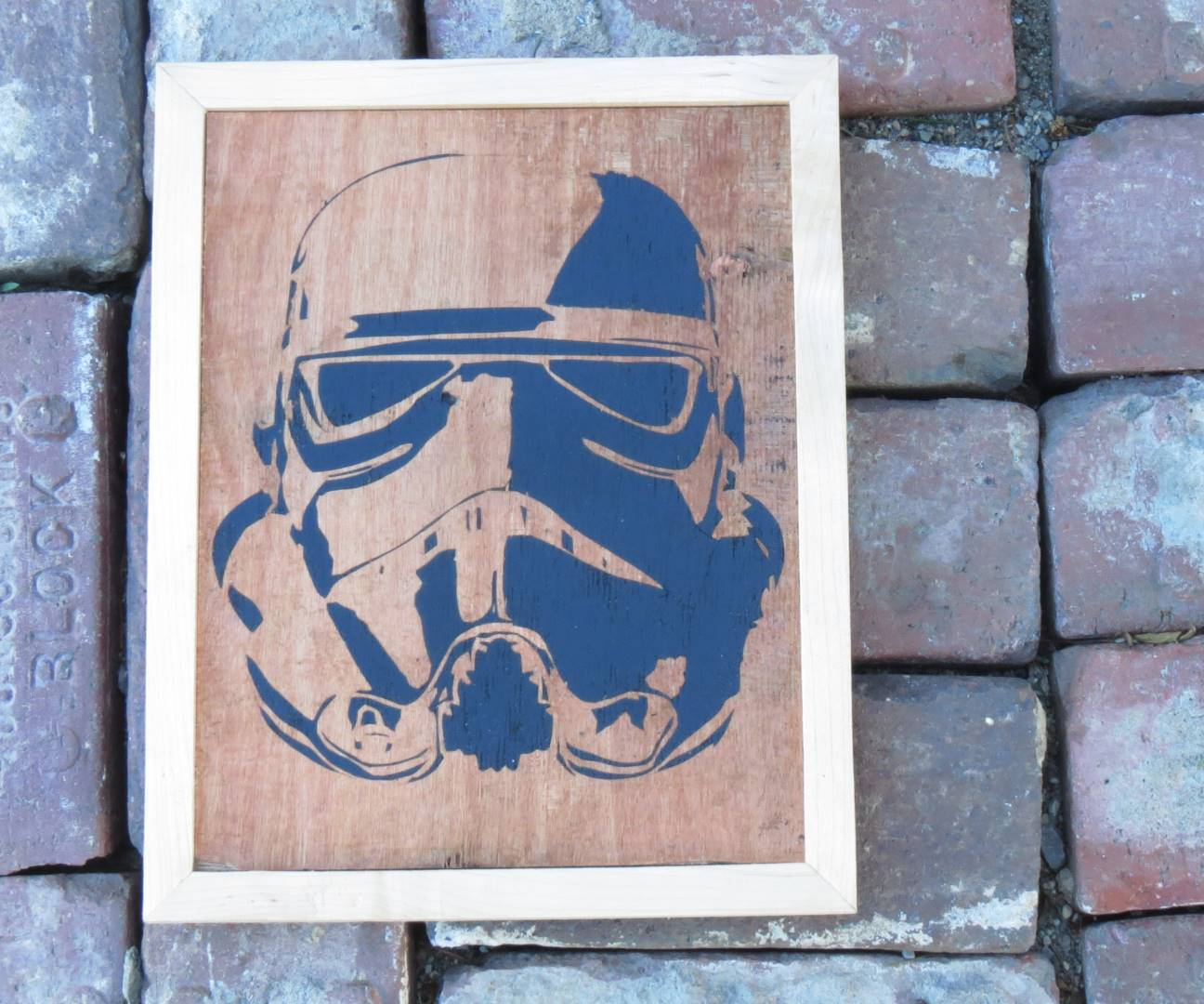 Storm Trooper Wall Art From Reclaimed Materials