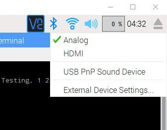 Testing the Audio