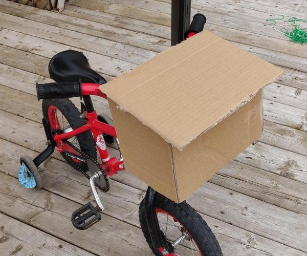 Front Cardboard Bike Basket