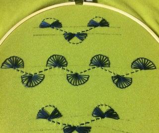 Indigo Handmade Embroidery on T-shirt
