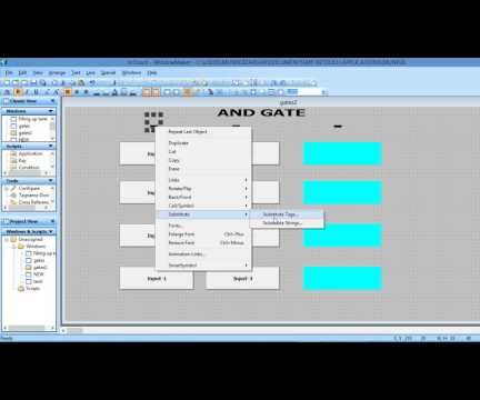 SIMULATION OF LOGIC GATES IN SCADA WONDER-WARE IN-TOUCH