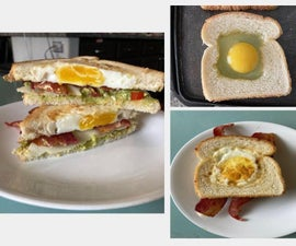 Coolest Brunch Sandwhich Ever! (Egg & Toast Combo)