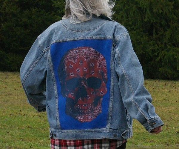 Denim Jacket Framed T-Shirt (JuxTeePosed Jacket)