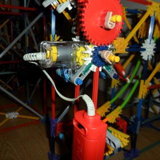 Sliding Arm Lift, a Knex Ball Machine Lift