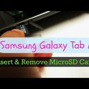 How to Insert or Remove MicroSD Card on Samsung Galaxy Tab A