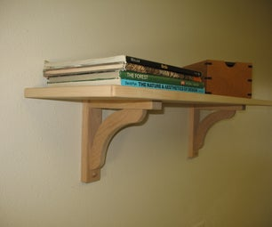 How to mount a shelf with wood shelf brackets