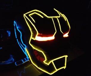 Iron Man (tron Style) Helmet