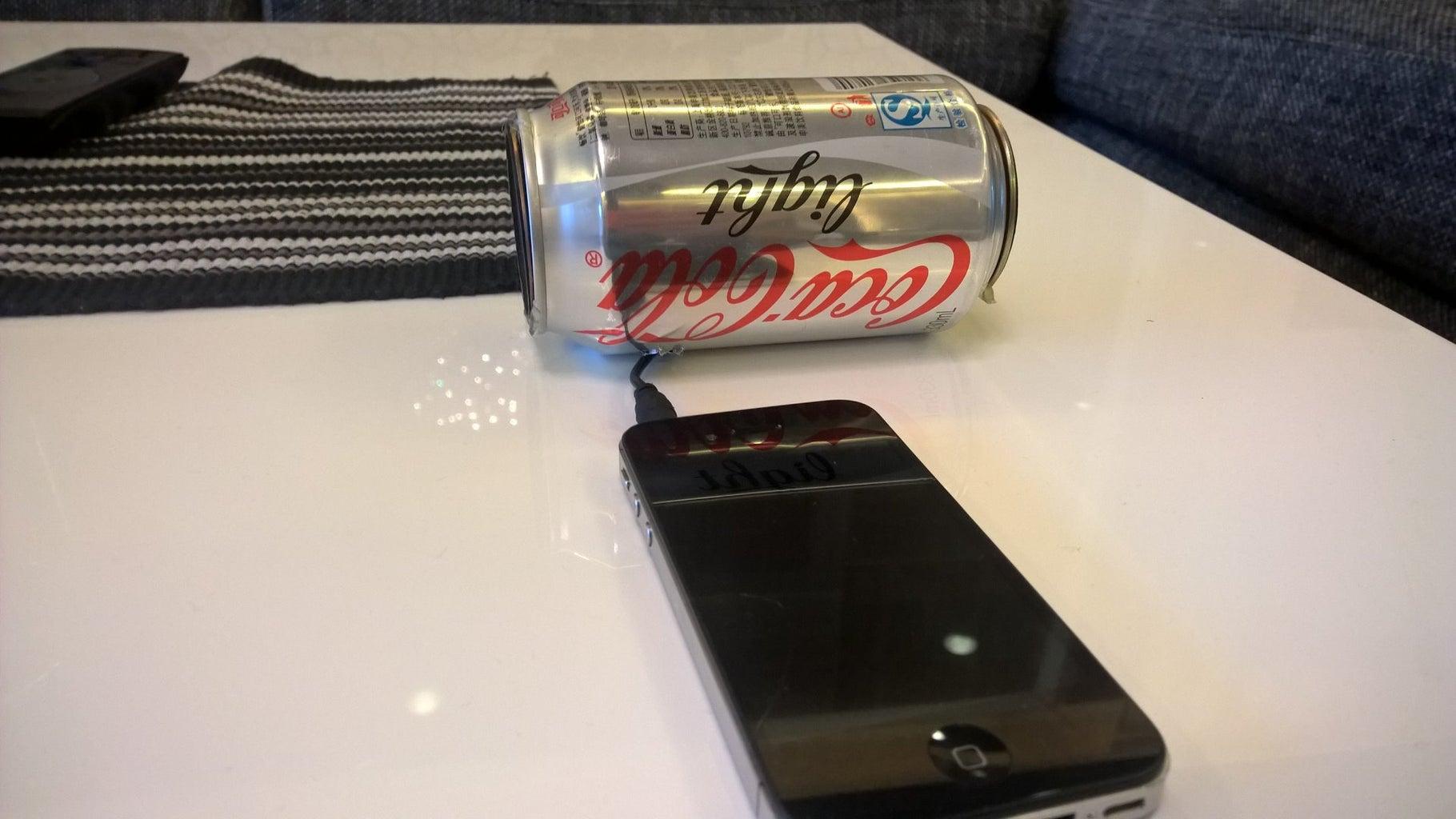 Coke Can Phone Speaker