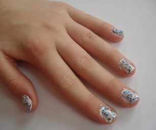 Sweet and Simple Winter Manicure