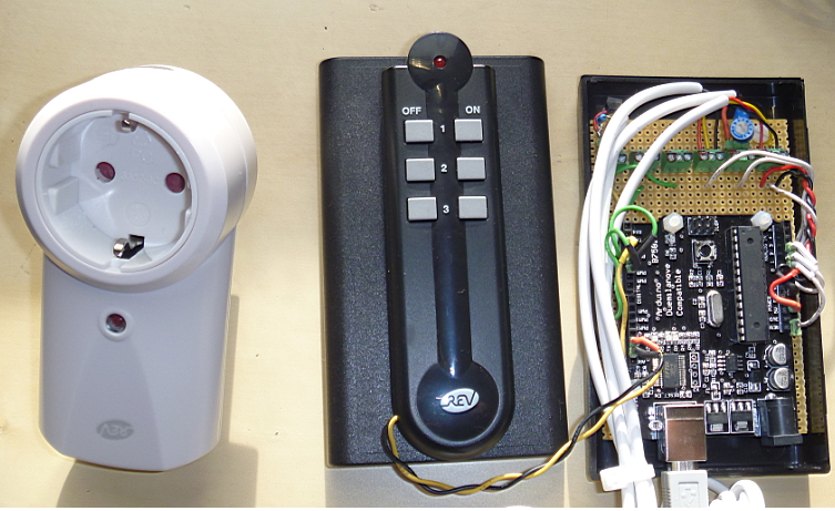 432 MHz wireless sensors and power outlets for home automation using Arduino