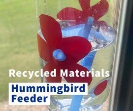 Recyled Materials Hummingbird Feeder (Lil Kid Friendly)